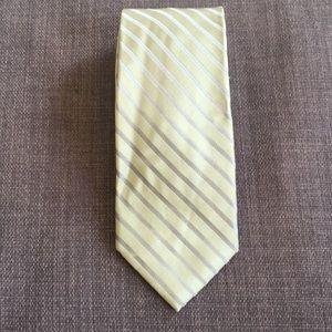 Calvin Klein green striped tie